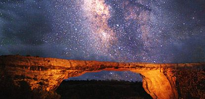 The World's First International Dark Sky Park - Natural Bridges National Monument (Gold Tier designation) in Utah, USA.