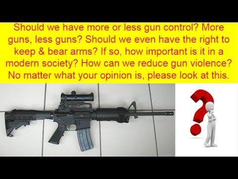 Gun control argumentative esssays
