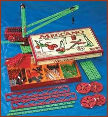 Meccano. I could not understand why my parents would not buy this for me. I had Bayko, I loved Dinkeys, I almost lived up trees, but maybe this was a bridge too far....