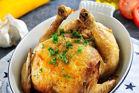 Honing limoen kip gevuld met courgette - Airfryer
