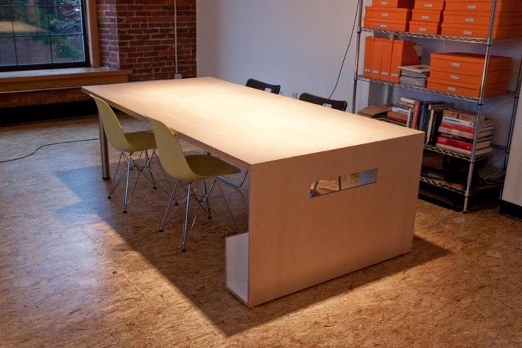 table by modern vermont christine burdick design in burlington vt