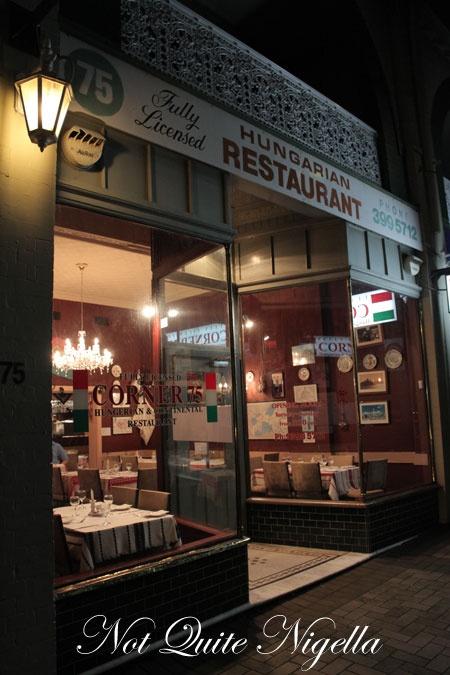 Corner 75 Hungarian Restaurant, Randwick
