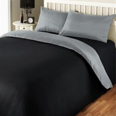 Boston Black and Grey Duvet Cover