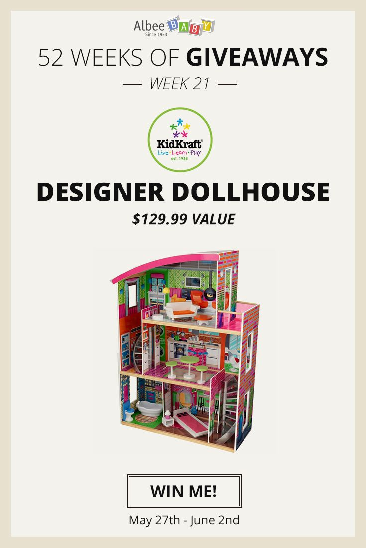 Enter to win a KidKraft Designer Dollhouse from AlbeeBaby during their 52 Weeks of Giveaways contest!