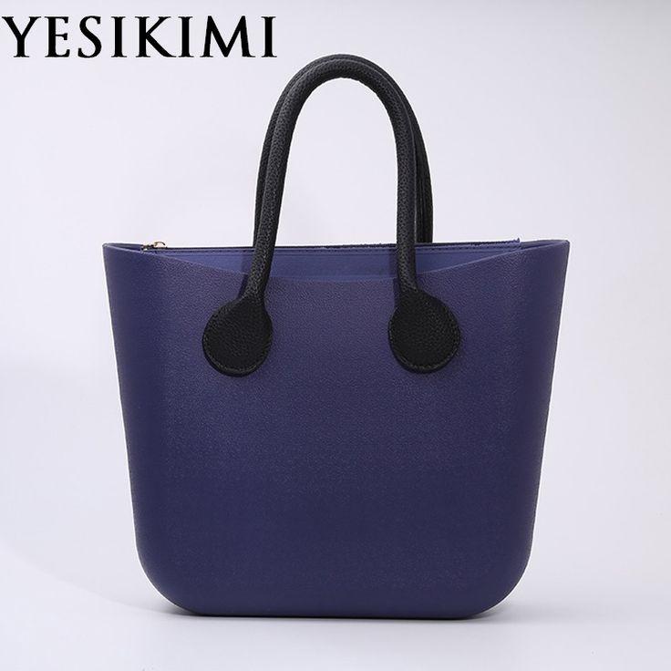 2017 Candy Color Women Silicone Bag Large Size Bolsa O bag Style Beach Purses Silica Zipper Italian Handbag Bucket Bag