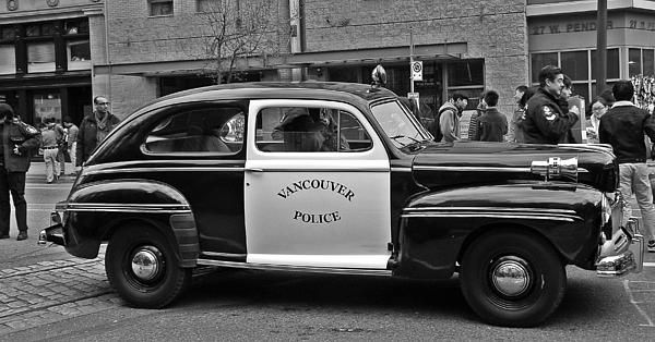 Vintage Vancouver Police Car by Brian Chase