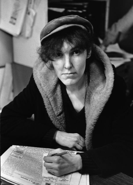 Valerie Solanas, author of the SCUM Manifesto, a raging text about all that's wrong in the society. Known for her assassination attempt on artist Andy Warhol at The Factory.