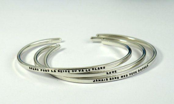 Adorable!    Custom Cuff Bracelet  hand stamped sterling by KathrynRiechert, $48.00