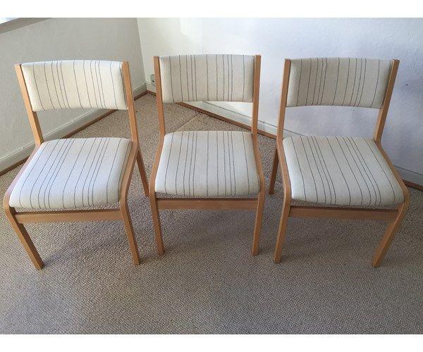 Spisebordsstol, Bøg, 3 stk spisestuestole i bøg, sæde og