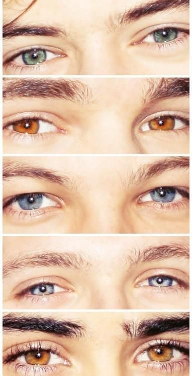 You know you're a directioner when you know who's who by their eyes. Harry, Liam, Louis, Niall and Zayn <3