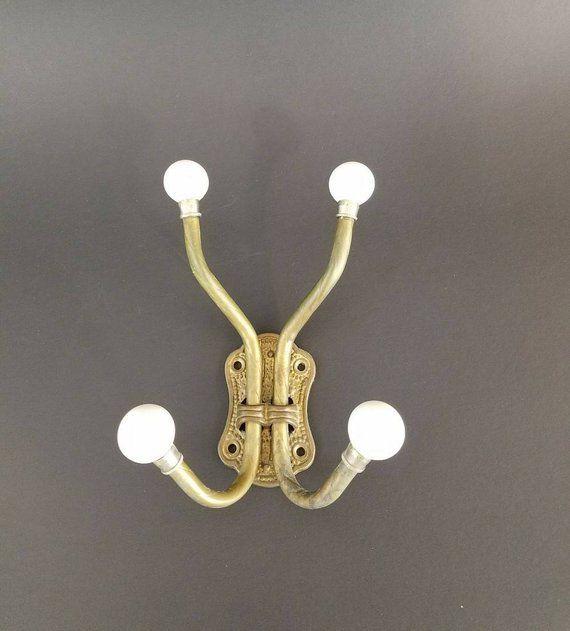 Brass And Porcelain Hook Vintage Towel Hooks Bathroom Towel Hanger Decorative Hooks Mid Century Decor Home And Living Gift Giving Vintage Towels Towel Hangers For Bathroom Vintage Towel Hooks