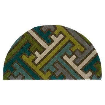 Perfekt LR Resources LR Resources Vibrance Miami Geometric Puzzle Rug