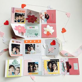 Love Us One Page Mini Album by Angela Tombari for I need confetti