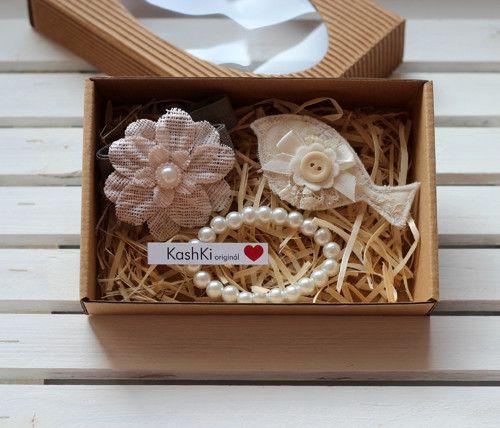 Jewelry sets for little girls. #headdress #bracelet  #beads #flowers #felt #brooch #KashKi #vintage