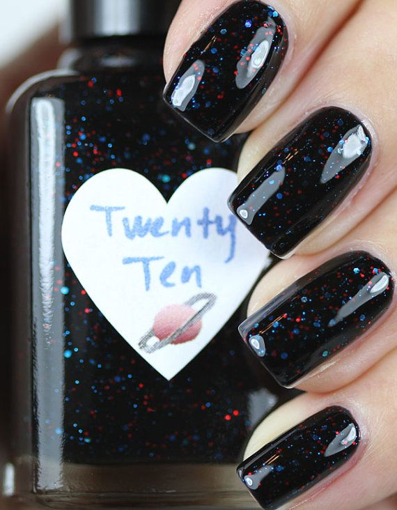 Hey, I found this really awesome Etsy listing at https://www.etsy.com/listing/96522904/twenty-ten-red-and-blue-glitter-nail