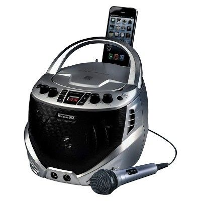 Karaoke USA Portable Karaoke Cdg Player, Silver