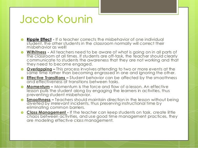 jacob kounin - Google Search