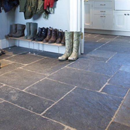 Gray Slate Tile Flooring Rustic Black Tiles