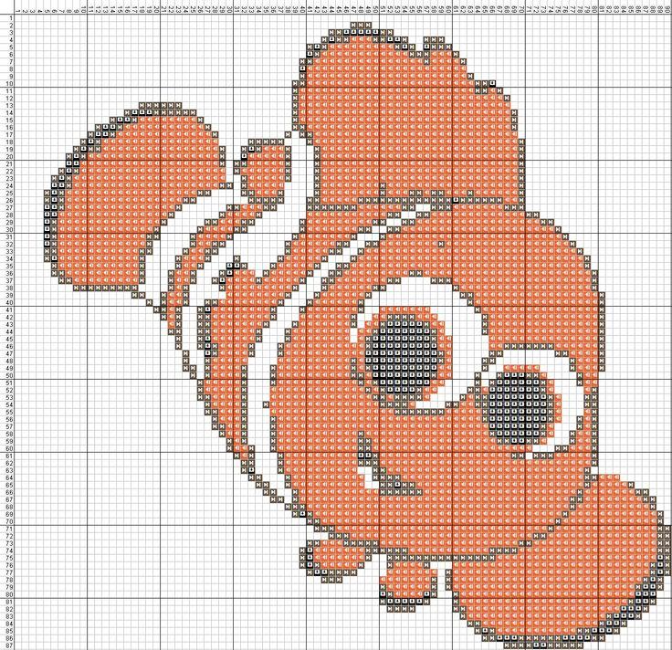 Nemo Punto De Cruz Jpg 1 289 215 1 247 Pixels Craft Ideas