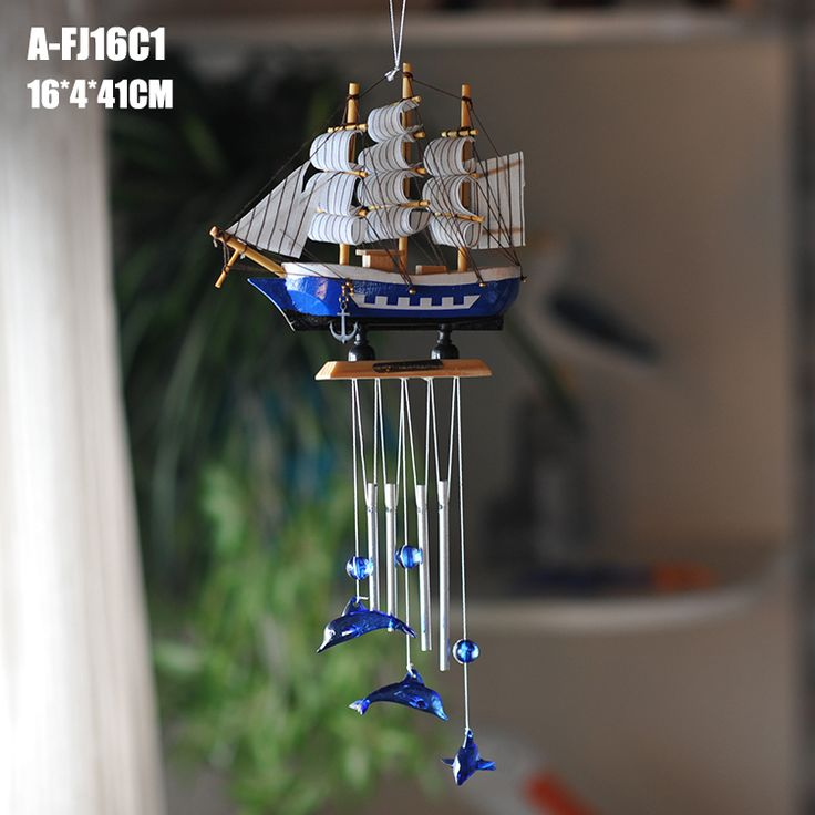 Mediterranean style sailing wind moans, Ocean series dolphin wind chimes
