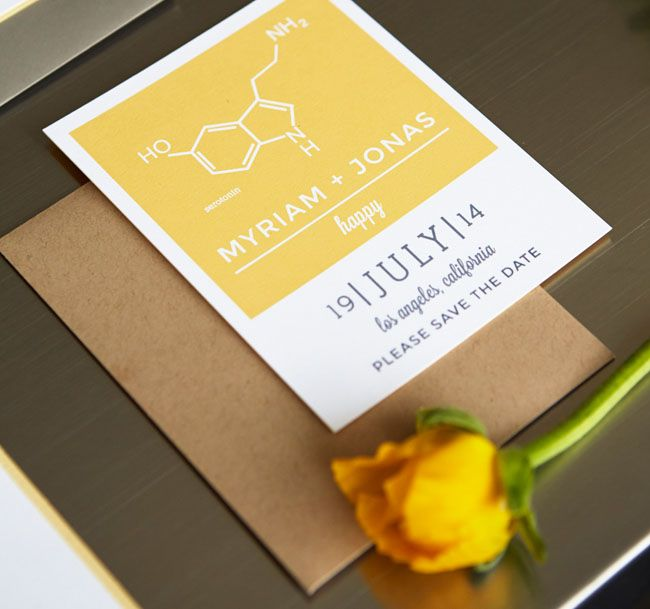 science inspired invitation