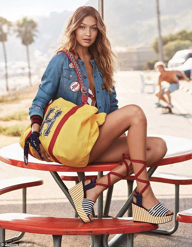 Gigi Hadid flashes derriere in new Tommy Hilfiger campaign | Daily Mail Online