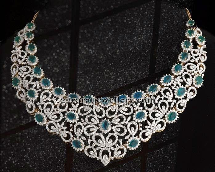 Jewellery Designs: Diamond Emerald Set by Kotharis Jewelry