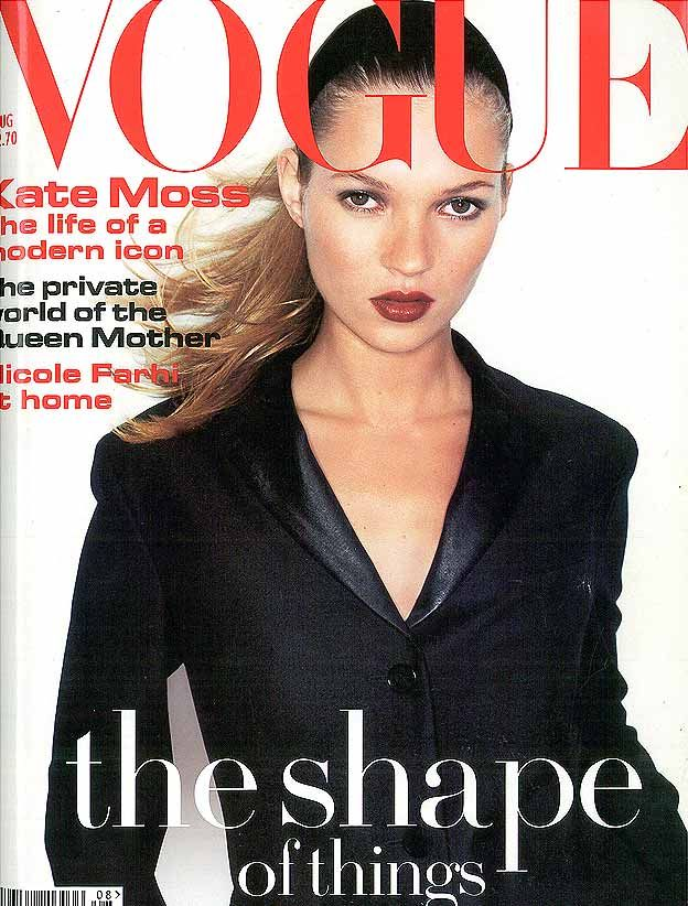Kate Moss British Vogue Cover August 1994