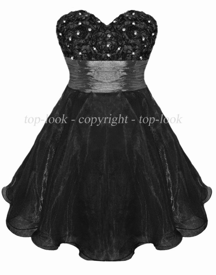 Little Black Organza Dress by PDUK at prom-dresses-uk.com