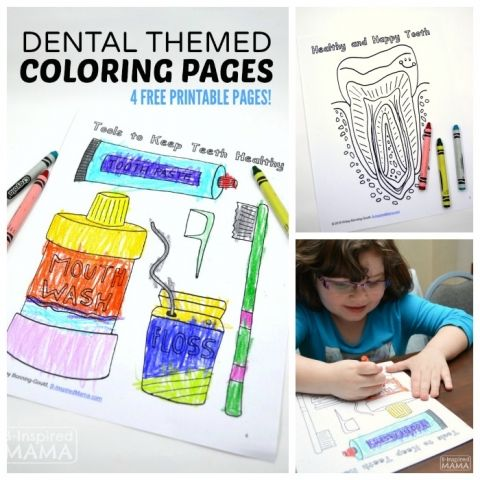 Dental Coloring Pages For Kids