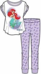 Wonderful ladies cotton pyjamas for any fan of Disney movie The Little Mermaid. Features a colourful print of Ariel with glittery slogan 'The Little Mermaid' on the top along with lilac bottoms featuring purple shell silhouettes as an all over repeated print. Wonderful gift for any Disney fan.