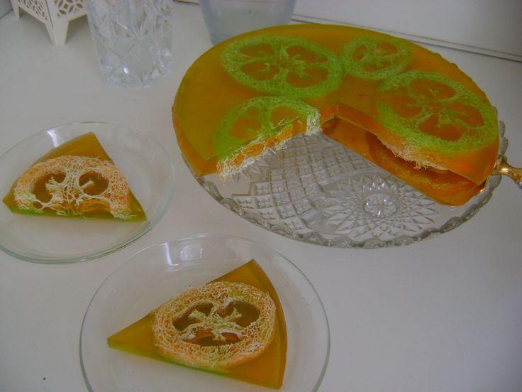 Orange and lime body scrub