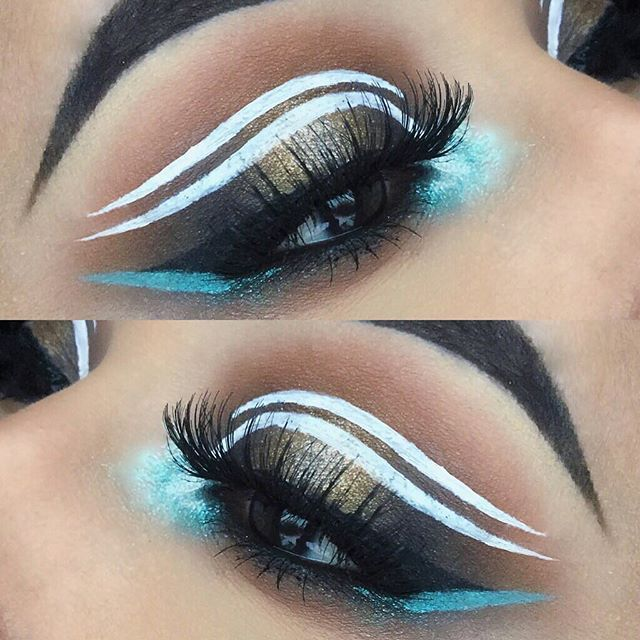 "Close up & Details ✨ ———–————–—————— @makeupgeekcosmetics ""Pegasus, Peach Smoothe, Creme Brulee, Cocoa Bear, Bada Bing"" @hudabeauty Rose Gold Palette ""#Blessed, 24K"" @urbandecaycosmetics ""Bumb"" Razor Sharp Liquid Eye Liner #HudaBeauty ""Samantha"" Lashes & @ardell_lashes ""105"" Lashes +  @anastasiabeverlyhills ""Ebony"" & ""Medium Brown"" Dip Brow"