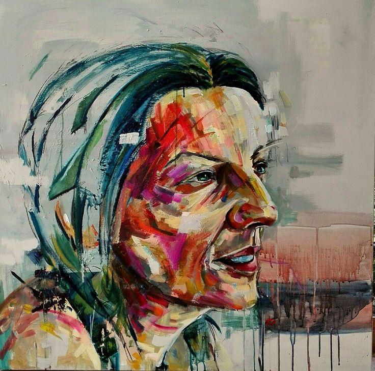 Acrylic portrait by tasos bousdoukos