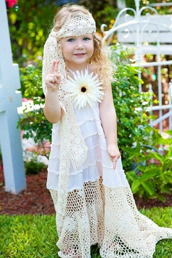flower girl - remove the big flower and add a green or blue sash