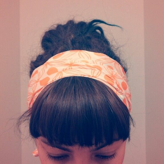 Baby dreads. Short bangs and head scarf