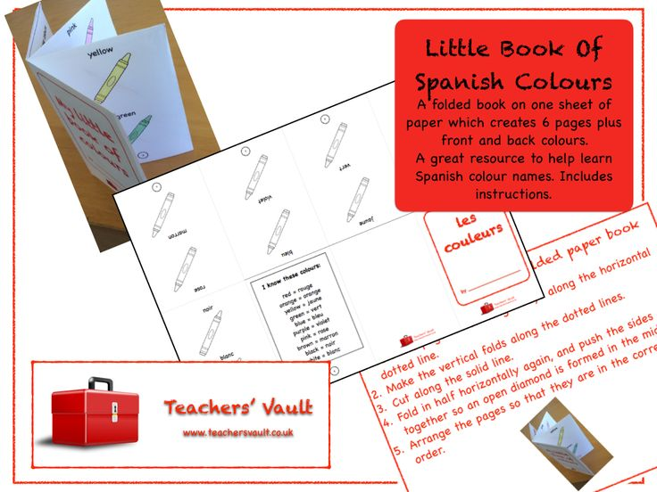 Little Book Of Spanish Colours - KS2, KS3 MFL Teaching Resources and Activities