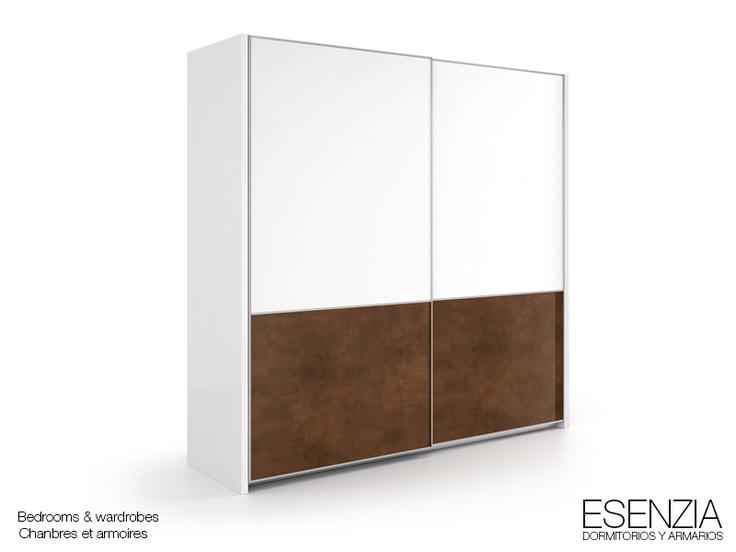 Esenzia armario 2 puertas correderas colgadas combinado for Puertas correderas colgadas