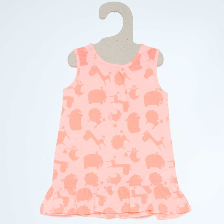 Tricot jurk met ruches                                                                                                                                                                                                                                                                                                                                                                                     roze Meisjes babykleding