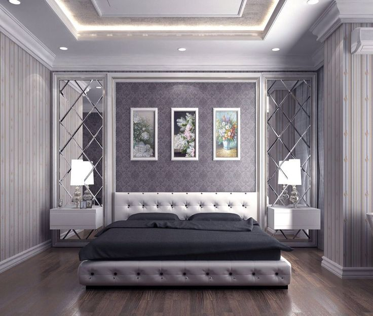 Мягкая белая кровать