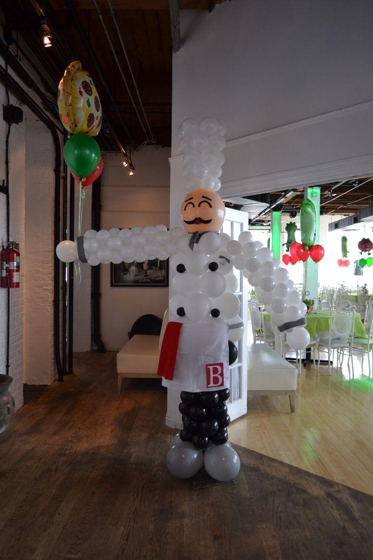 Crazy balloon animals - Chef Balloon Sculpture