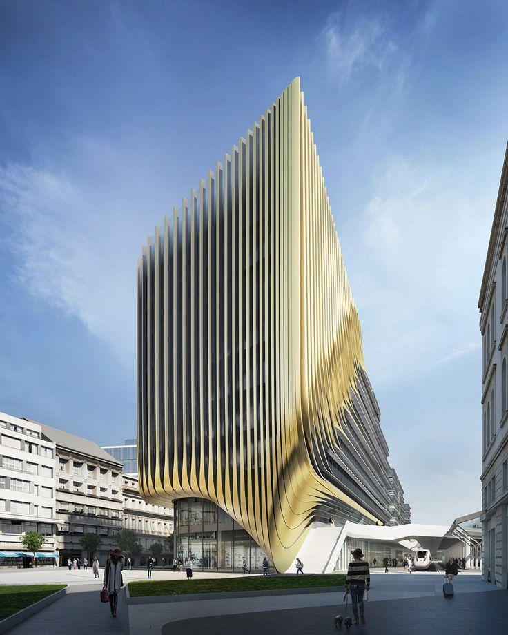 Die besten 25 wolkenkratzer ideen auf pinterest coole architektur new york city geb ude und - Zaha hadid architektur ...