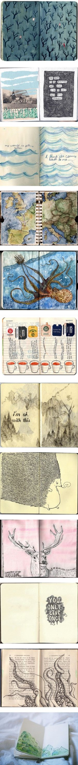 """Journals and Colorful Drawings"" by camilla-adamowicz"