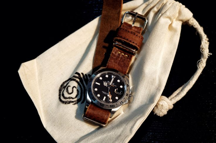 Rolex Explorer II on Stach Straps