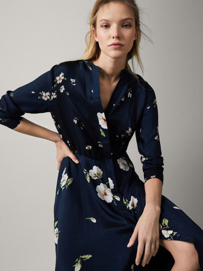 331f696907ff Floral print cupro dress in 2019 | To Purchase | Dresses, Jumpsuit ...