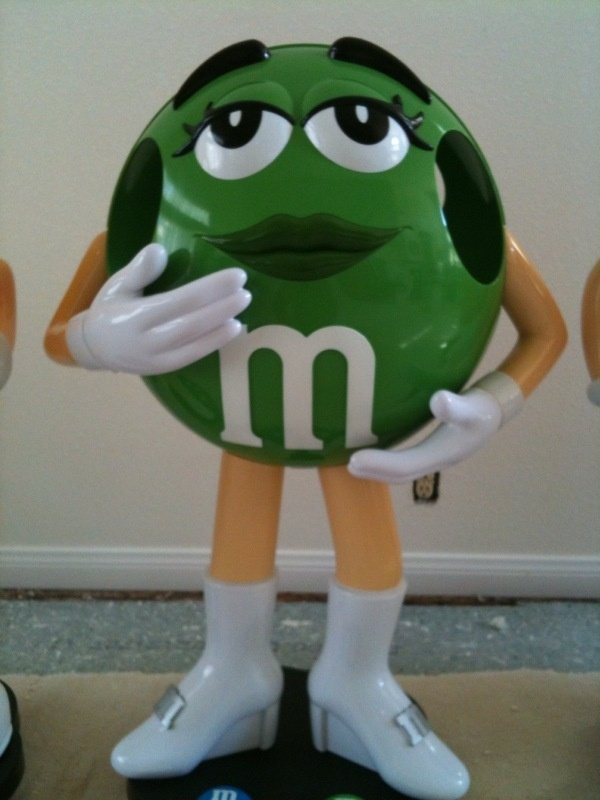 """M&M Store Display Green Character 36"""""""