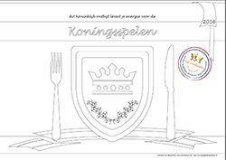 kleurplaat Koningsspelen pakket