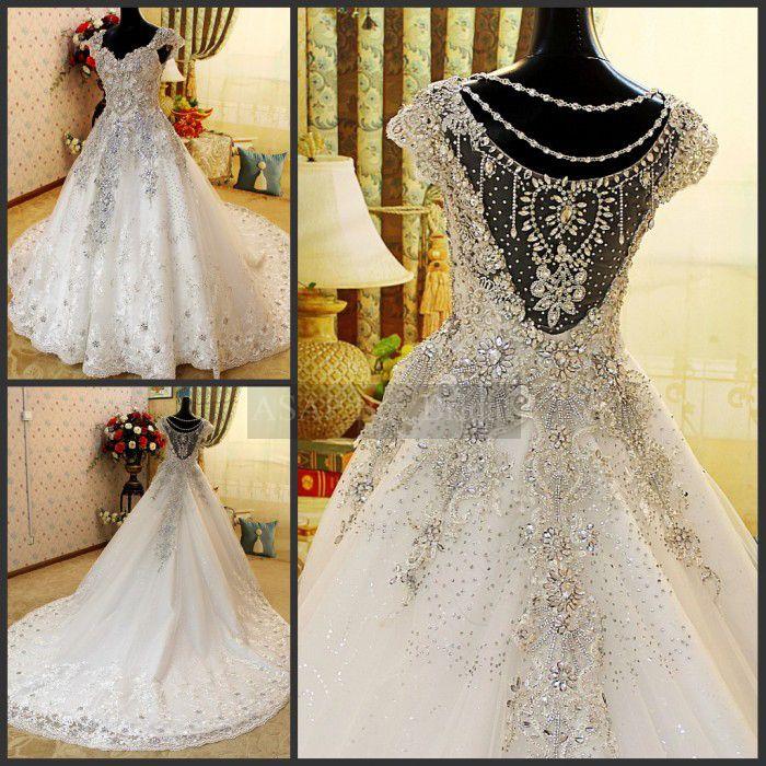 91 best lace bling wedding dresses images on Pinterest Bling