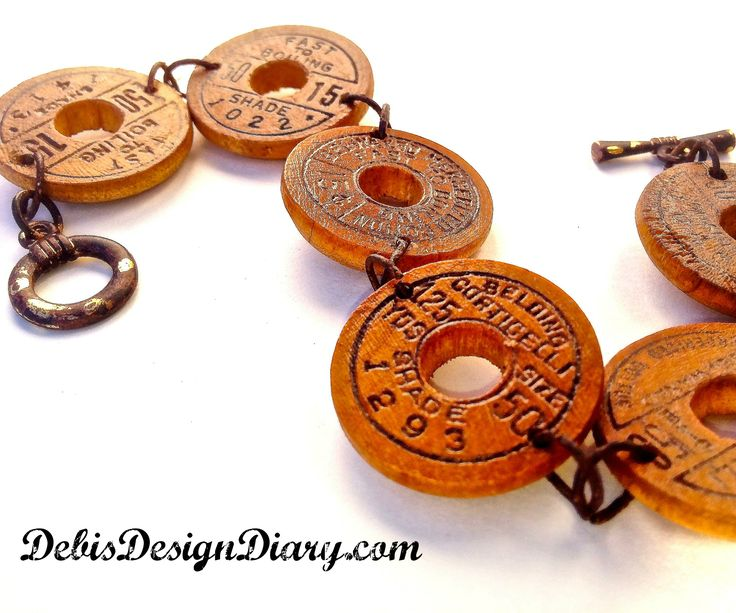 watch the fun and quick video, how to make a bracelet from vintage spools of thread! http://www.youtube.com/watch?v=avvm57Qnh5k