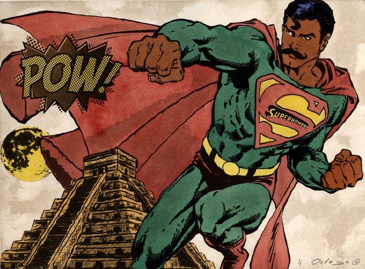 """""""Superman"""" Artista: Tony Ortega, grabado coloreado a mano, 21.5x28 cm, 2014 + PA"""
